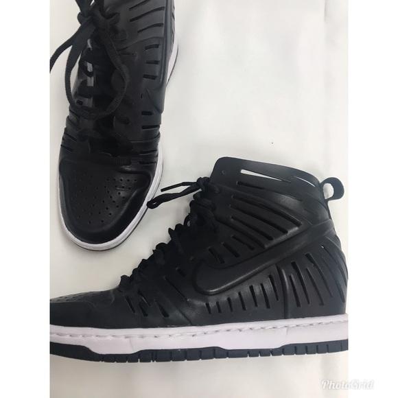 09cdcf33edb5 Nike Shoes - Nike Women s Dunk Sky Hi lace-up wedge sneaker 7.5